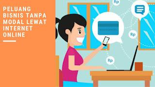 Peluang Bisnis tanpa Modal Lewat Internet Online
