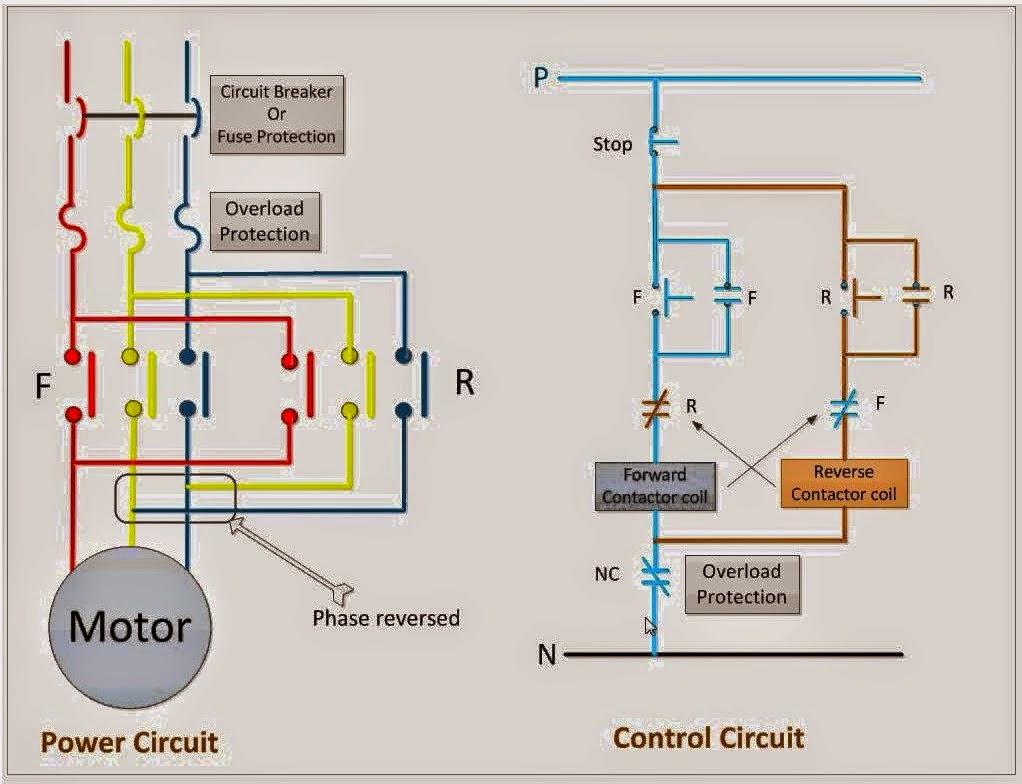 circuit diagram 3 phase motor forward reverse