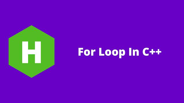 HackerRank For Loop in C++ problem solution