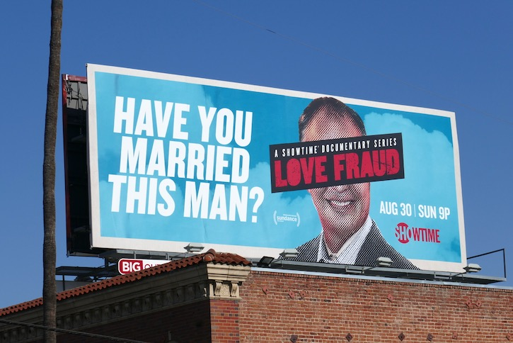 Have you married this man Love Fraud billboard