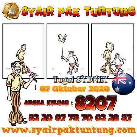 Syair Pak Tuntung Sydney Rabu 07 Oktober 2020