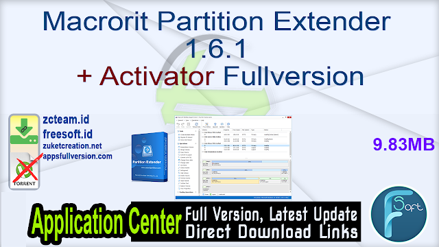 Macrorit Partition Extender 1.6.1 + Activator Fullversion