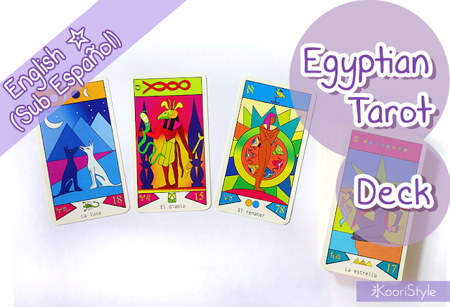 Koori Style, KooriStyle, Tarot, Deck, Decks, Collection, Cards, Illustrations, LWB, Booklet, Occult, Spiritual, Oracle, Mystical, Cartas, Baraja, Mazo, Colección, Ilustración, First Impression, Review, Egyptian, Egipcio
