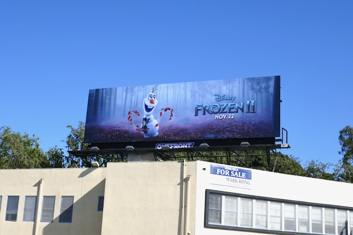 Disney Frozen II movie billboard