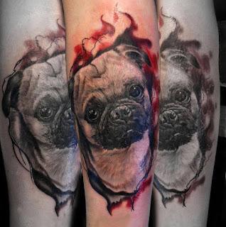 Tatuaje perro pug
