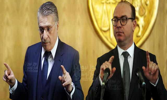 tunisie elyes fakhfakh et nabil karoui