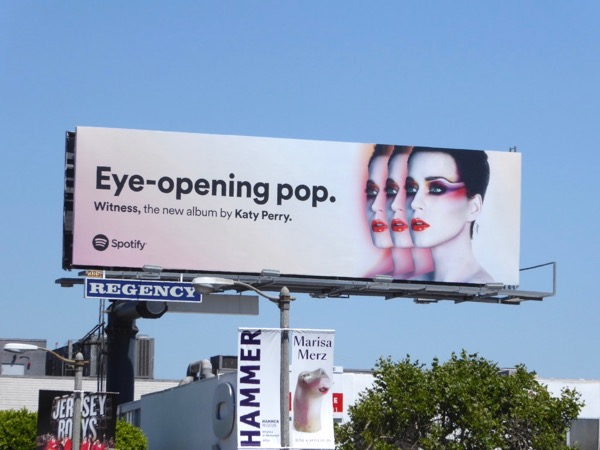 Katy Perry Eye-opening pop Spotify billboard