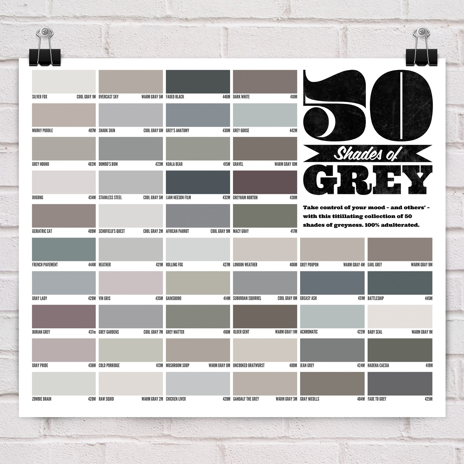 50 Shades Of Grey The Last Quarter Century Must Rank As One Nadirs In History Interior Design Palette Permissible Wall Colours