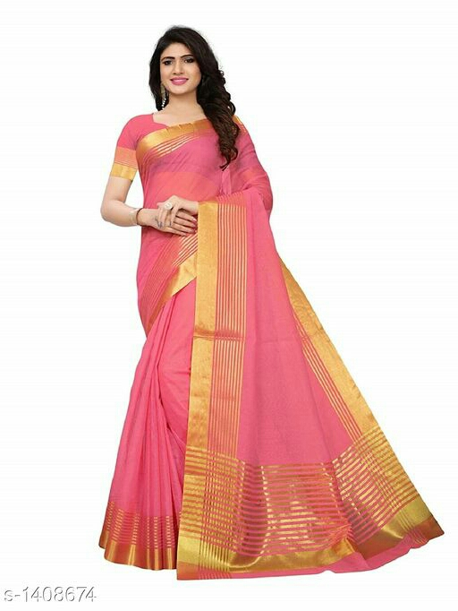 Stylish Cotton Silk Printed Women's Saree