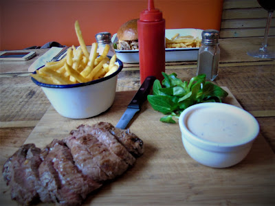 steak, restaurant, fries