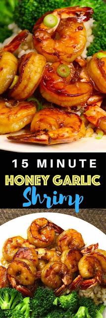 15 Minute Easy Honey Garlic Shrimp