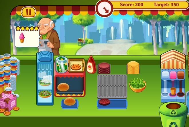 Burger dating sim