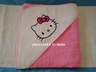 capa de baño hello kitty
