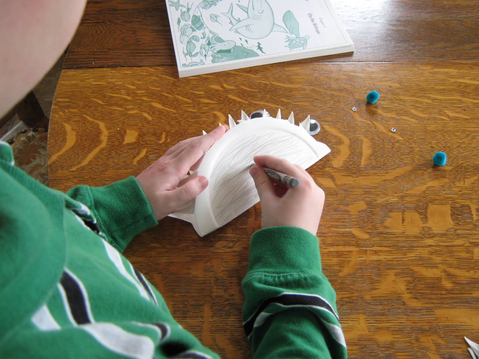 almost unschoolers paper plate shark craft paper plate shark craft