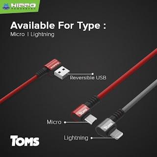 Hippo TOMS Kabel Data Lightning Kabel Charger Gamer Quick Charging