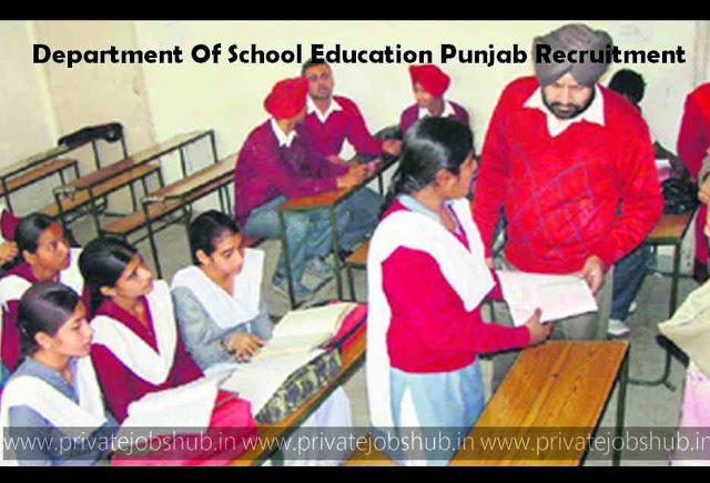 Department Of School Education Punjab Recruitment