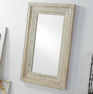 Espejo Blanco Rustico Dalmato