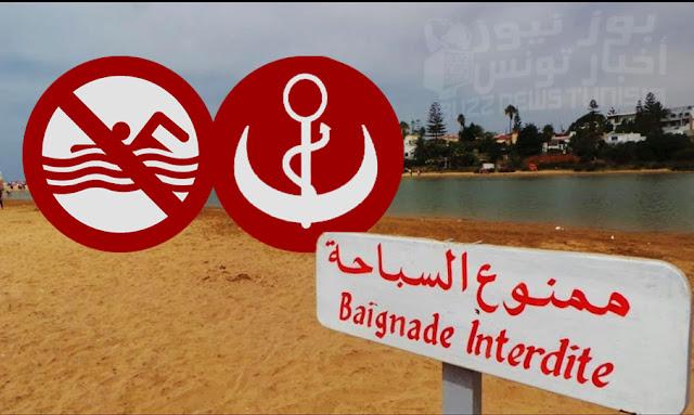 Les plages interdites à la baignade en tunisie
