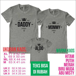 kaos family ouple request  nama