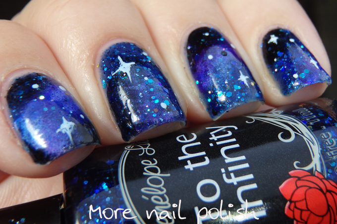 Penelope Luz - To the Infinity = gorgeous base for a galaxy mani ...