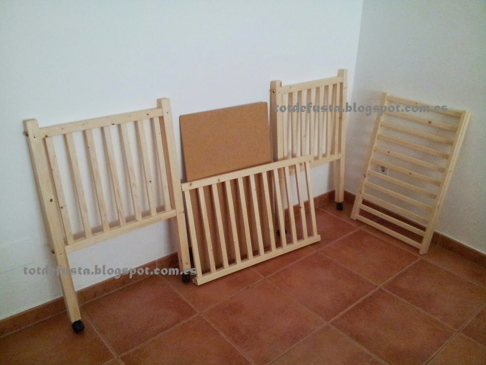 Minicuna en madera maciza - Tableros de madera medidas y precios ...
