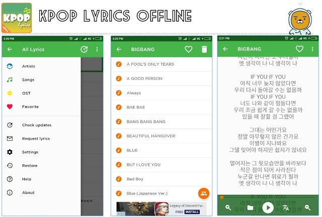 app kpop lyrics