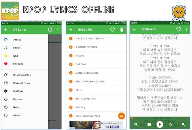 app kpop lyrics