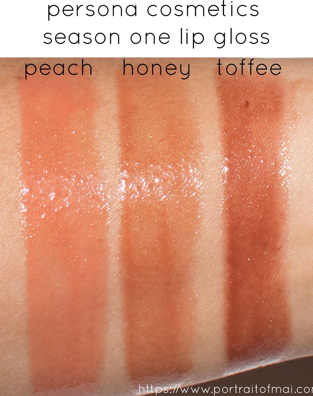 Persona Cosmetics Season One Lip Gloss Arm Swatch