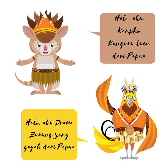 Maskot PON XX 2021 Papua