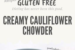 Creamy Cauliflower Chowder Gluten free @glutenfree