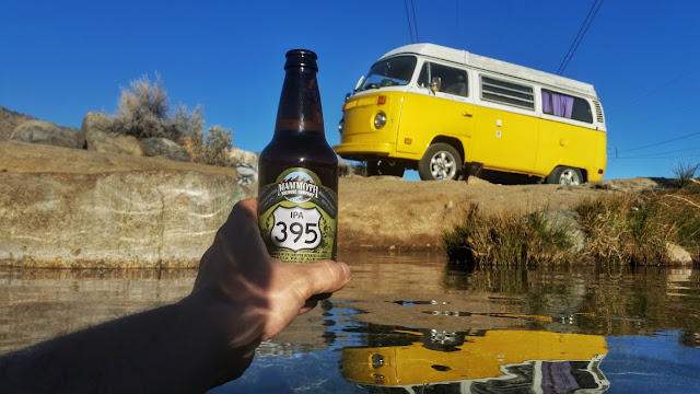 IPA 395 beer in California hot spring, USA