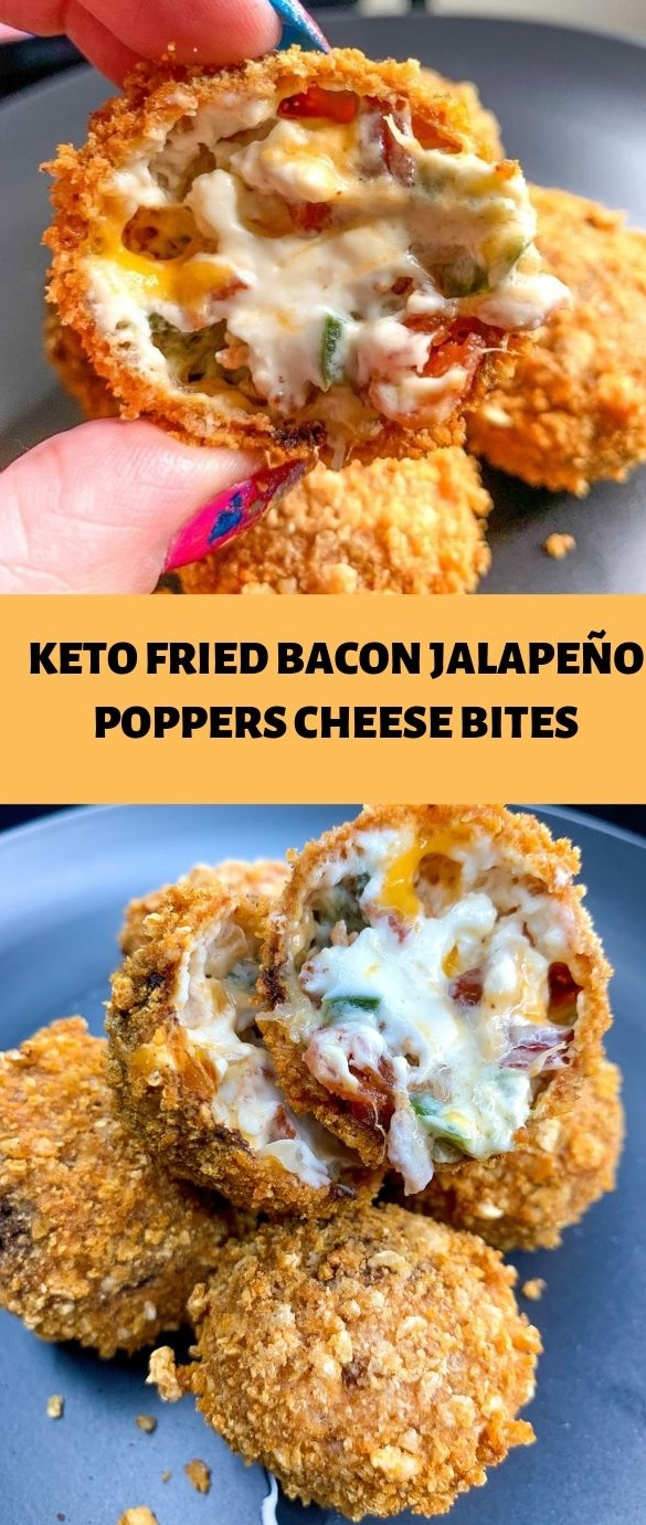 Keto fried bacon jalapeño poppers cheese bites   My Daily ...
