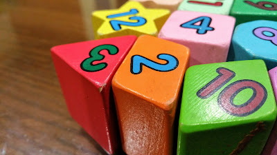Image, coloured blocks of different shapes