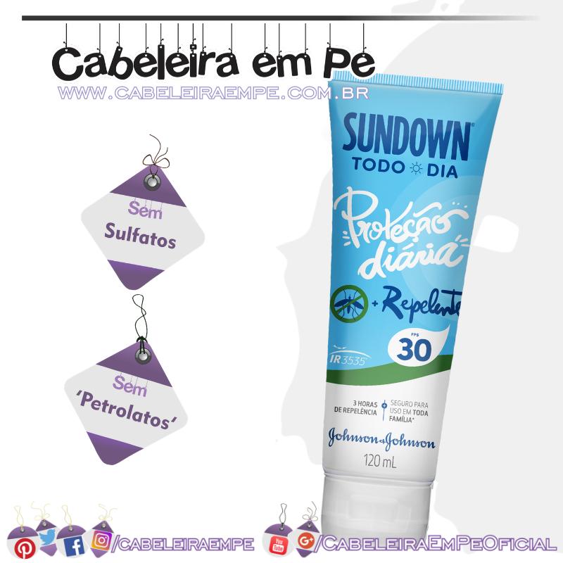 Protetor Solar Todo Dia Com Repelente Fps 30 - Sundown