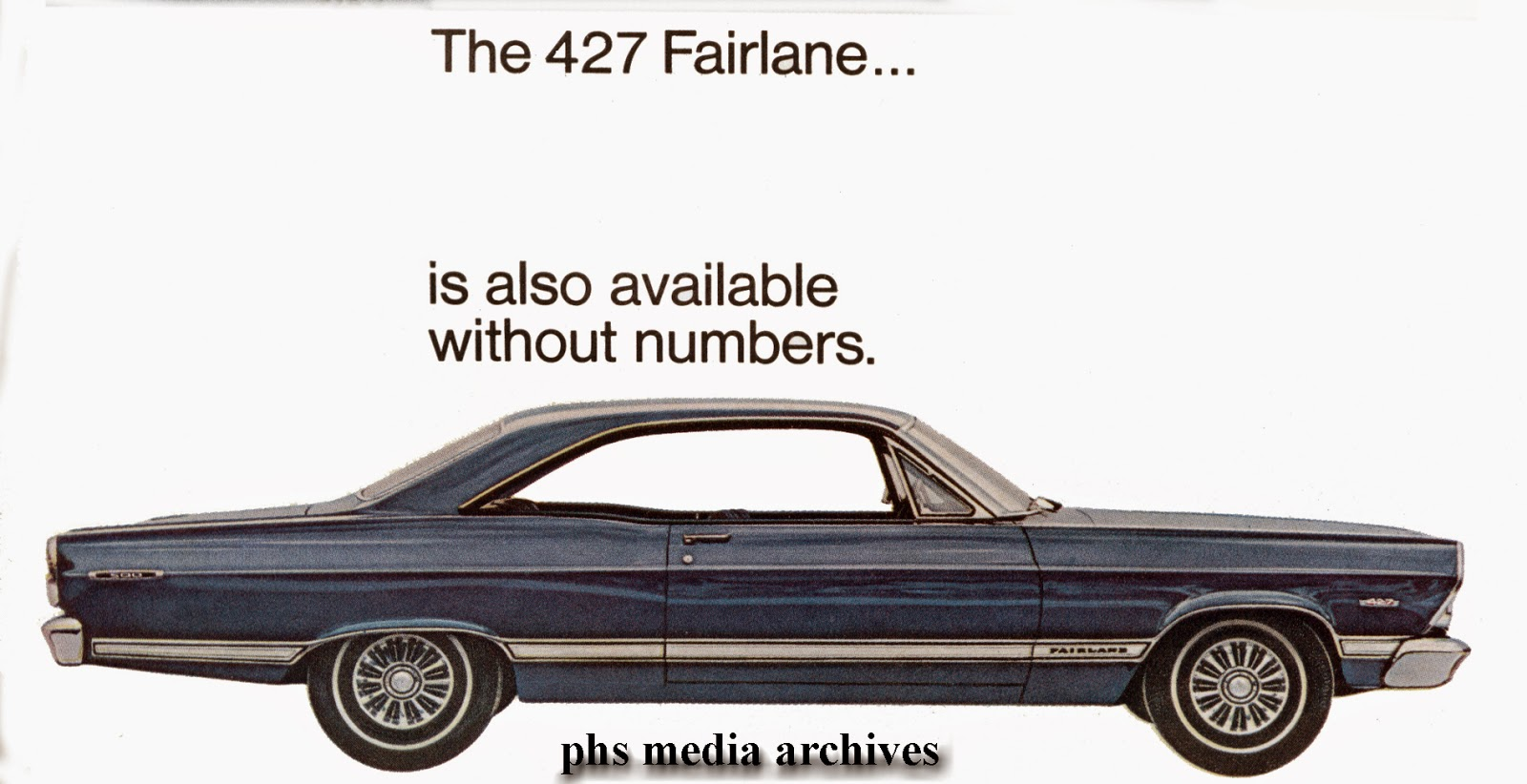 The big block 427 fairlane had its own special cold air induction hood