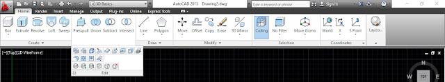 Edit Panel, 3d commands in AutoCAD