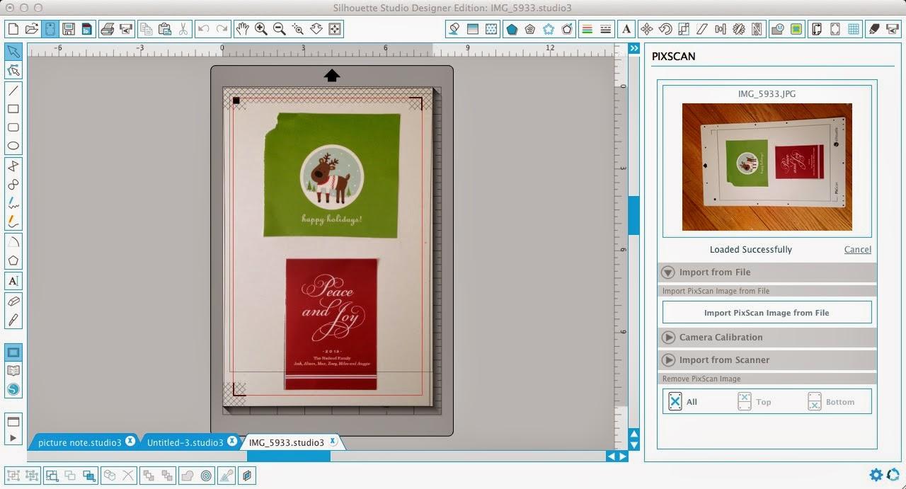 Silhouette Pixscan, Silhoeutte tutorial, Pixscan tutorial, Silhouette Studio, holiday card