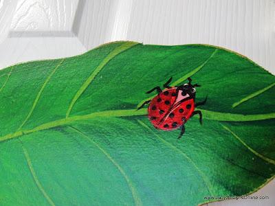 hand painted ladybug art