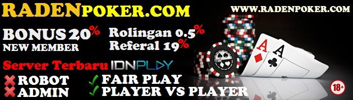 Radenpoker.com Situs AGEN POKER dan AGEN DOMINO online Terbaik & terpercaya di Indonesia Banner