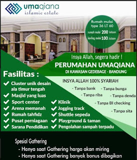 Rumah syariah dan perumahan syariah di Bandung- Umaqiana Village
