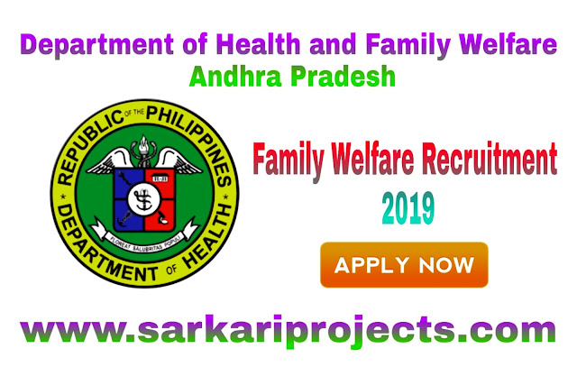 Department of Health - Family Welfare Recruitment 2019 Jobs Apply Online