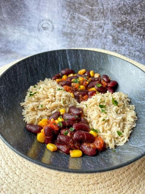 Chili végétarien - Haricots rouges - Légumineuses -  Recette facile