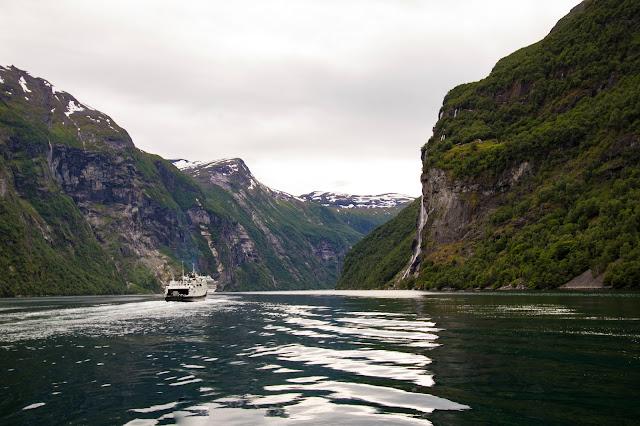Cascata delle sette sorelle-Crociera da Geiranger sul Geirangerfjord