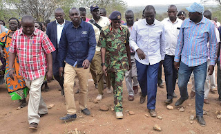 Deputy president William ruto in Baringo following the clashes with IG Joseph Boinet. PHOTO | Courtesy