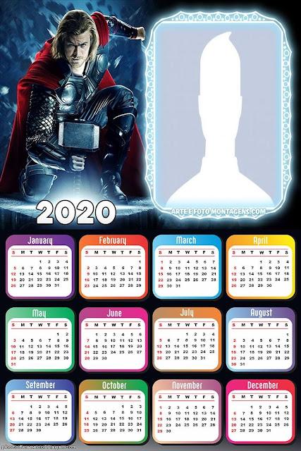 Thor: Free Printable 2020 Calendar