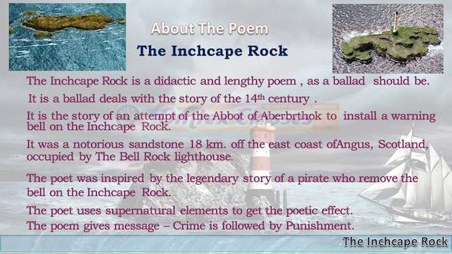 Chapter 2: The Inchcape Rock Balbharati solutions