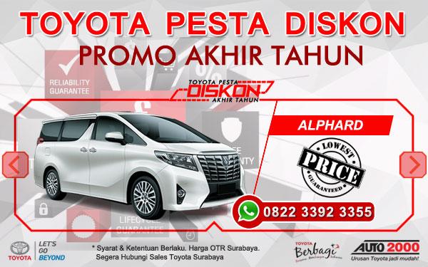 Promo Akhir Tahun Toyota Alphard Surabaya
