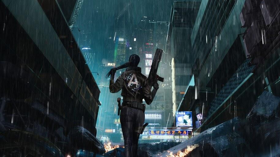 Cyberpunk, Girl, Sci-Fi, 4K, #4.615
