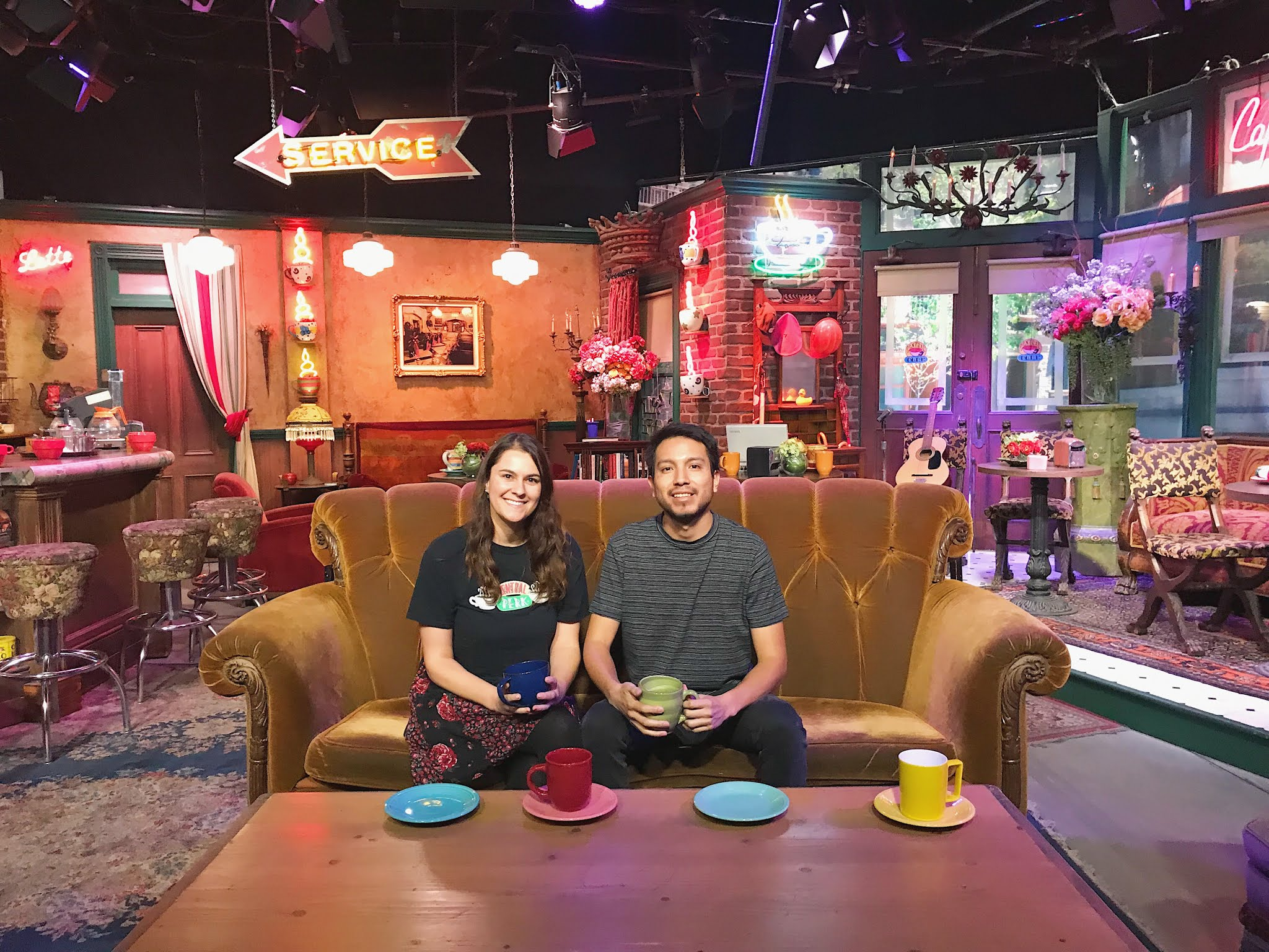 Is Central Perk Cafe From Friends real? Warner Bros Studio Tour Burbank California friends set central perk central perk friends friends studio friends coffee shop where was friends filmed friends central perk friends cafe central perk set