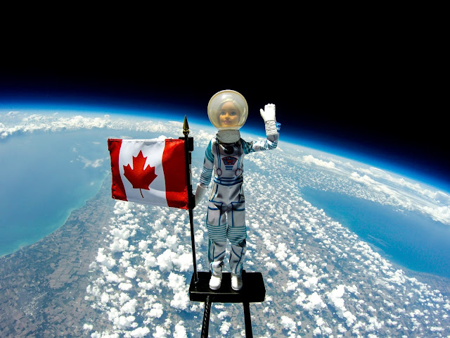 A Barbie Astronaut Doll reached new heights as she was launched to space on Friday, July 5, 2019 in London, Ontario. The launch was held in partnership with STEM Camp and was designed to inspire a new generation of girls, who will pursue STEM careers, to reach their limitless potential. #YouCanBeAnything